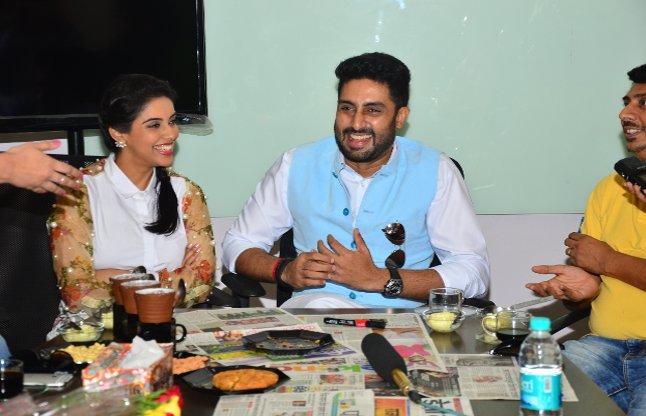 Abhishek bacchan at Rajasthan Patrika office