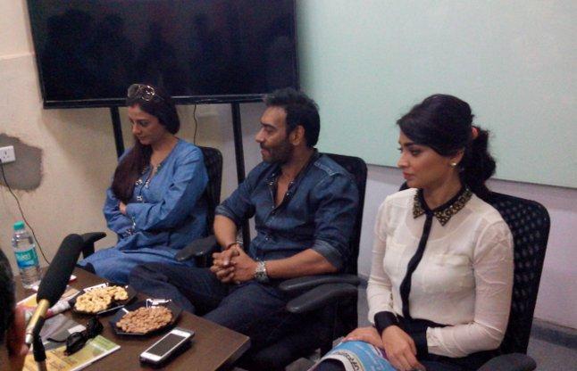 Ajay devgan with Team drishyam at patrika office