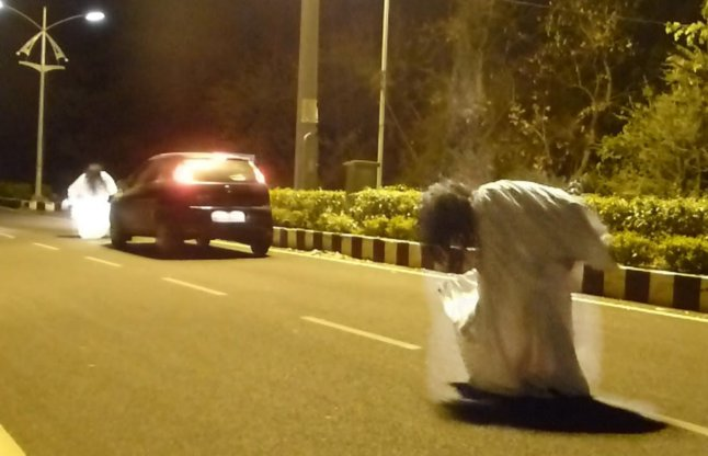 Ghost on indian roads video
