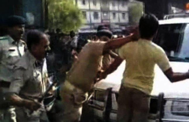 Gujarat Police Violence caught on Camera video