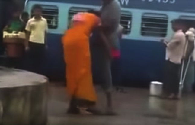 Indian Woman showing her WWE Skills video